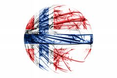 Abstract Norway sparkling flag, Christmas ball concept isolated on white background. Abstract Norway sparkling flag, Christmas ball concept isolated on white vector illustration