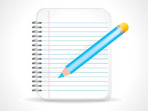 Abstract notepad icon Royalty Free Stock Photography