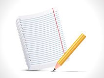 Abstract notepad with pencil icon Stock Photos