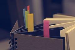 Abstract notitieboekje met het lusje van de kleurennota Royalty-vrije Stock Fotografie