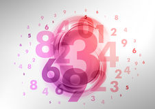 Abstract number Royalty Free Stock Images