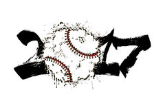 Abstract number 2017 and baseball Stock Image