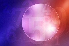 Abstract number and circle background Stock Photo
