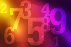 Abstract number and circle background Royalty Free Stock Image