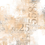 Abstract number collage Stock Image