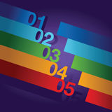 Abstract number line background. An abstract number line background royalty free illustration