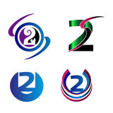 Abstract Number 2 logo Symbol icon Stock Photography