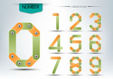 Abstract number set, concept of logo vector design Stock Photo