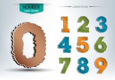 Abstract number set of logo vector design Royalty Free Stock Images