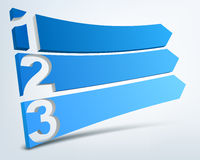 Abstract numbered banners. Abstract blue 3d banners with place for text Stock Photography