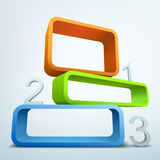 Abstract numbered banners. Abstract colored 3d banners with place for text Royalty Free Illustration