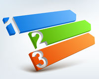 Abstract numbered banners. Abstract colored 3d banners with place for text Stock Photography