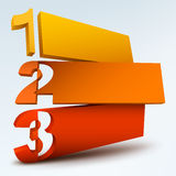 Abstract numbered banners Stock Images