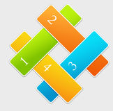 Abstract numbered banners Royalty Free Stock Image