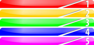 Abstract numbered color banners template. Vector illustration Royalty Free Stock Photography