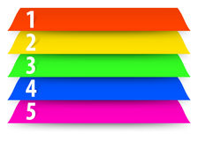 Abstract numbered color banners template. Vector illustration Royalty Free Stock Image