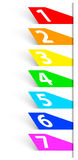 Abstract numbered colorful banners. Vector illustration Stock Images