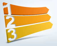 Abstract numbered lines Stock Image
