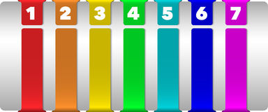 Abstract numbered vertical color banners Royalty Free Stock Photography