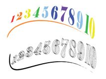Abstract numbers Royalty Free Stock Images