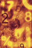 Abstract numbers. Use for background or texture royalty free illustration