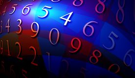Abstract numbers. 2D computer art Royalty Free Stock Photo
