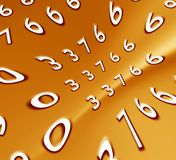 Abstract numbers. 2D computer art Stock Images