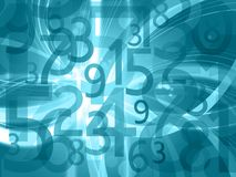 Abstract numbers background. Light blue background with random numbers Royalty Free Stock Photos