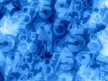 Abstract numbers background. Abstract blue light numbers background Stock Photography