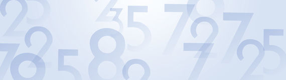 Abstract numbers background Royalty Free Stock Photography