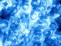 Abstract numbers light background Royalty Free Stock Image
