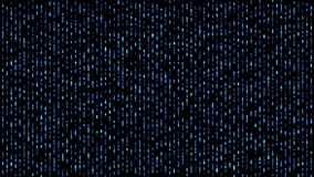 Abstract numbers matrix falling code blue vector illustration