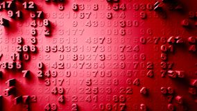 Abstract Numbers Random Motion Stock Images