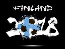 Abstract nummer 2018 en de vlek van de voetbalbal Stock Fotografie