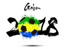 Abstract nummer 2018 en de vlek van de voetbalbal Royalty-vrije Stock Foto's