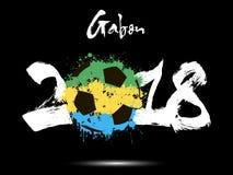 Abstract nummer 2018 en de vlek van de voetbalbal Stock Foto