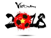 Abstract nummer 2018 en de vlek van de voetbalbal Royalty-vrije Stock Afbeelding