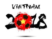 Abstract nummer 2018 en de vlek van de voetbalbal Stock Afbeeldingen