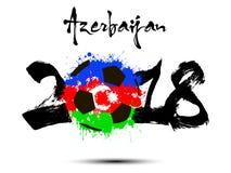 Abstract nummer 2018 en de vlek van de voetbalbal stock illustratie