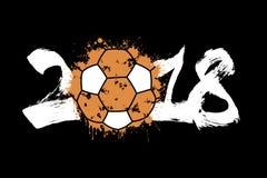 Abstract nummer 2018 en handbalbal Stock Foto