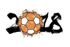 Abstract nummer 2018 en handbalbal Royalty-vrije Stock Foto