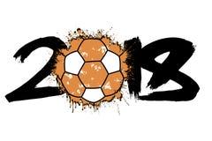 Abstract nummer 2018 en handbalbal Royalty-vrije Stock Afbeeldingen