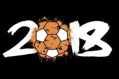 Abstract nummer 2018 en handbalbal Royalty-vrije Stock Afbeelding