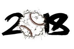 Abstract nummer 2018 en honkbal Stock Fotografie