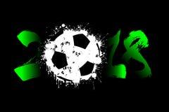 Abstract nummer 2018 en voetbalbal Royalty-vrije Stock Afbeeldingen