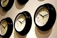 Abstract O'Clock. On the wall at 10.15 Royalty Free Stock Images