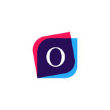 Abstract O letter logo company icon. Creative vector emblem bran Royalty Free Stock Photo
