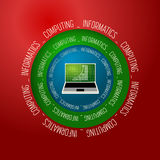 Abstract object. Colored  abstract object and the words informatics, computing Stock Photos