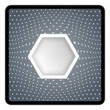 Abstract object with hexagon Royalty Free Stock Image