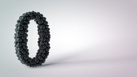 Abstract object number zero. On the table Royalty Free Stock Images
